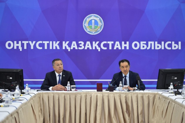 Бакытжану Сагинтаеву доложили оразвитии ЮКО