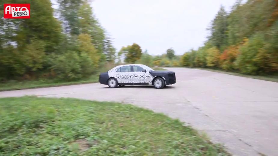 Появилось видео испытаний седана проекта «Кортеж»