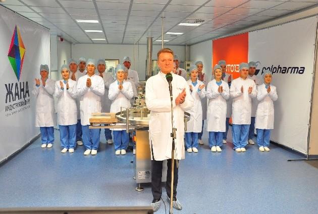 Входе телемоста президент запустил вШымкенте цех повыпуску лекарственных препаратов