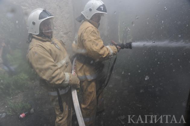 Наодном изрынков Алматы произошел крупный пожар